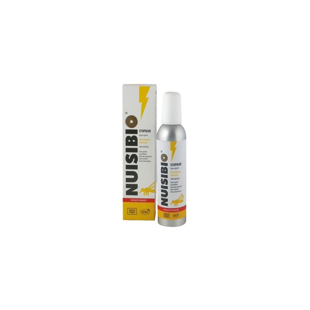 Spray anti-moustiques STOPIKUR aux huiles essentielles bio NUISIBIO