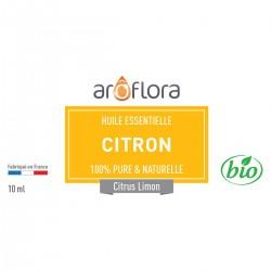 Huile essentielle de Citron 100% pure et naturelle, 10ml