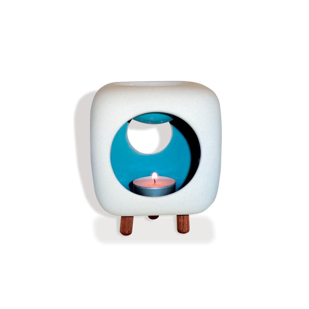 Brûle-parfum en céramique Cube