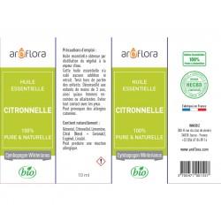 Huile essentielle de Citronnelle 100% pure et naturelle, 10ml