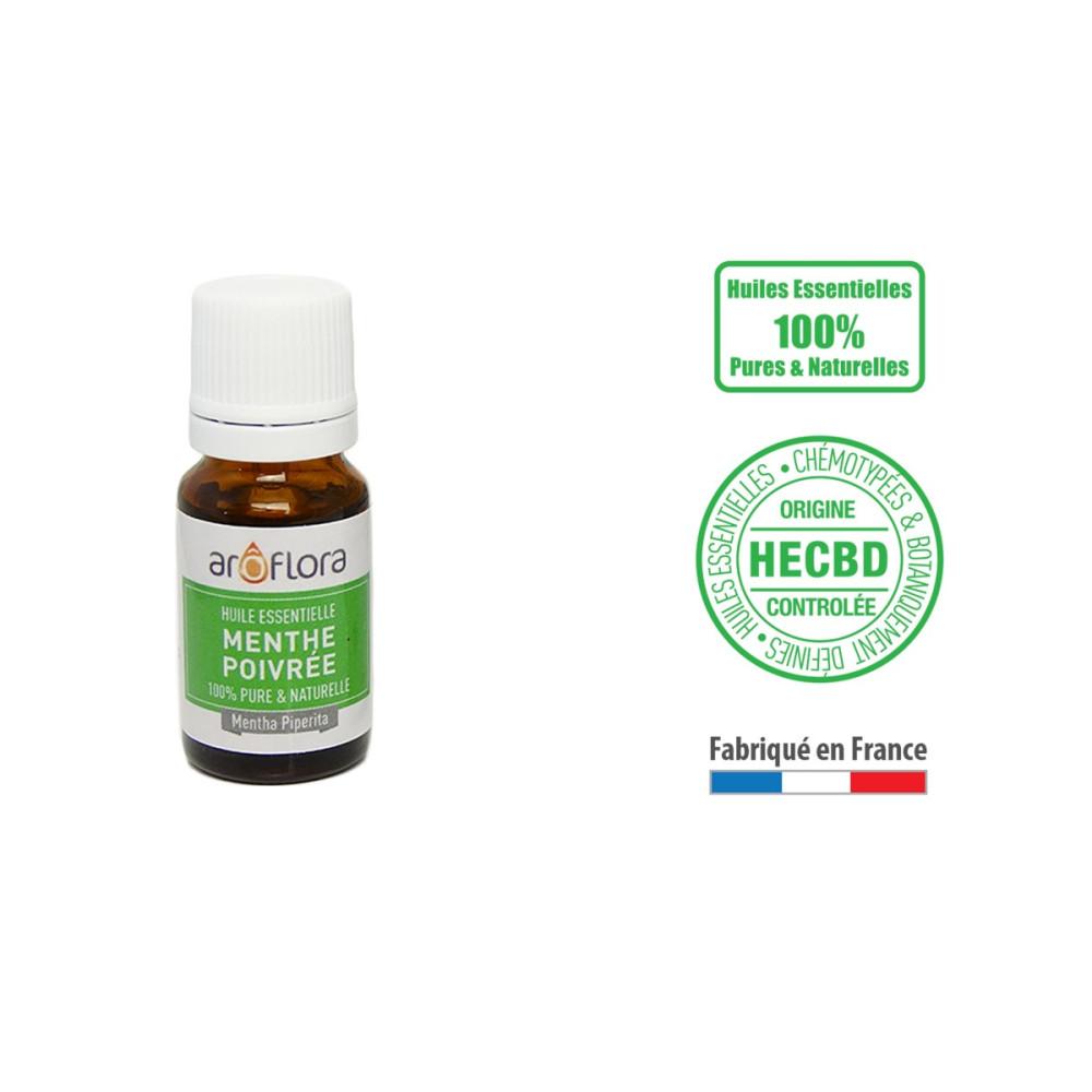 Huile essentielle de Menthe poivrée 100% pure et naturelle, 10ml