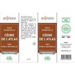 Huile essentielle de Cèdre de l'Atlas 100% pure et naturelle, 10ml