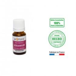 Huile essentielle BIO de Géranium 100% pure et naturelle, 10ml