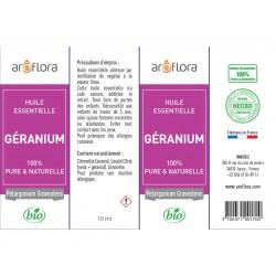 Huile essentielle de Géranium 100% pure et naturelle, 10ml