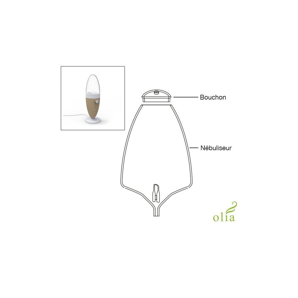 verrerie complète (bouchon + nébuliseur) pour diffuseur Olia
