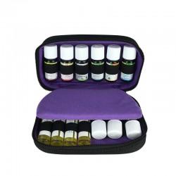 Trousse pour huiles essentielles violette et noire (Grand format)