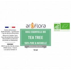 Huile essentielle BIO de Tea Tree 100% pure et naturelle, 10ml
