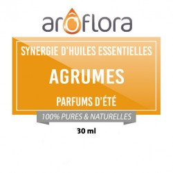 AGRUMES : Synergie d'huiles essentielles 30 ml