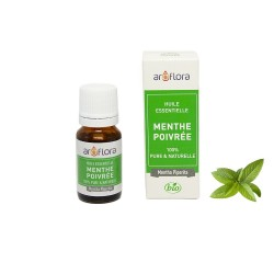 Huile essentielle BIO de Menthe poivrée 100% pure et naturelle, 10ml